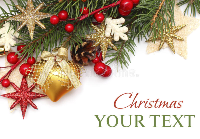 Download Christmas Background With Xmas Decoration Stock Image - Image: 22114585
