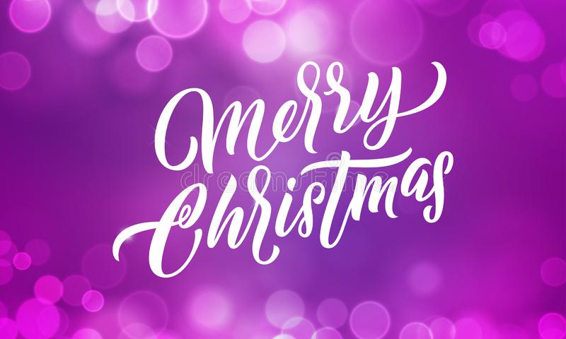 Christmas background, Xmas lights and Merry Christmas holiday lettering light glitter sparkles vector illustration