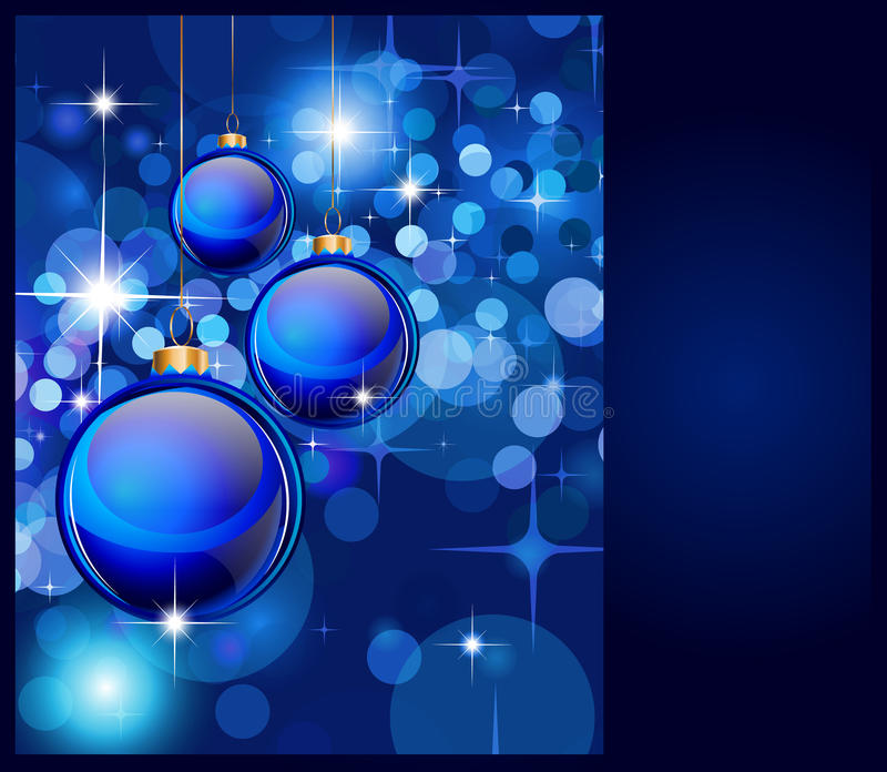 Download Christmas Backgrounds stock vector. Image of bauble, blue - 17174274