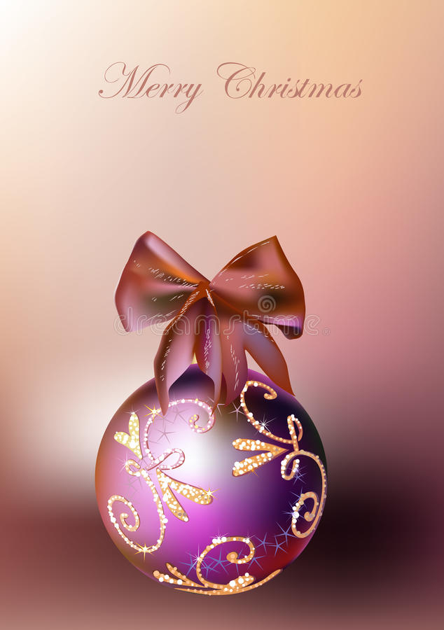 Christmas backgrounds with balls and robbin stock illustration