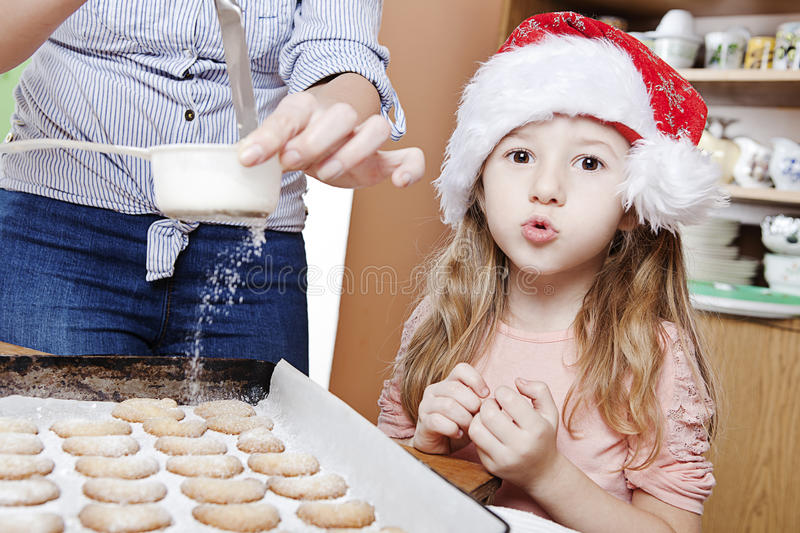 Download Christmas baking stock photo. Image of girl, expression - 27251972