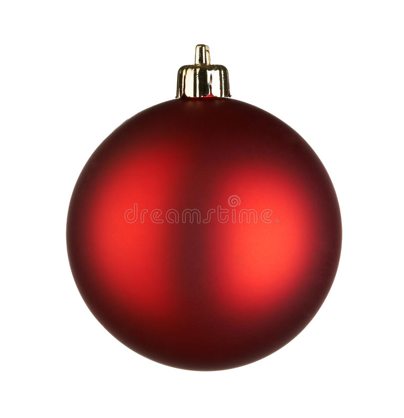 Christmas ball. On white background stock photography