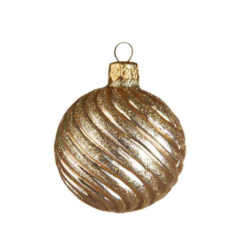 Christmas ball. On white background royalty free stock images
