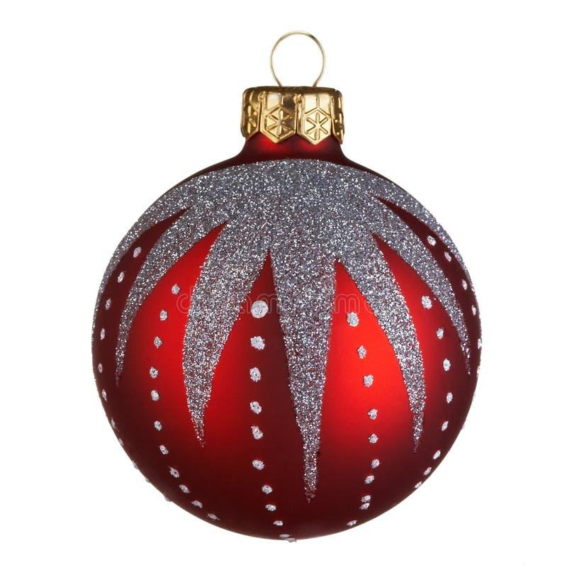 Christmas ball. On white background royalty free stock photos