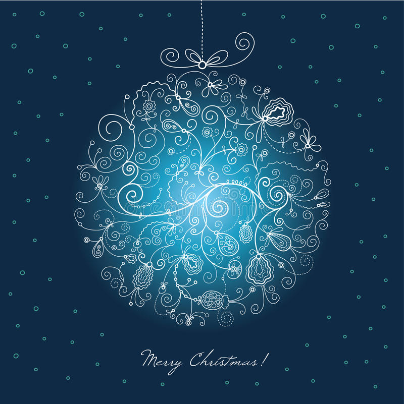 Christmas ball stock illustration