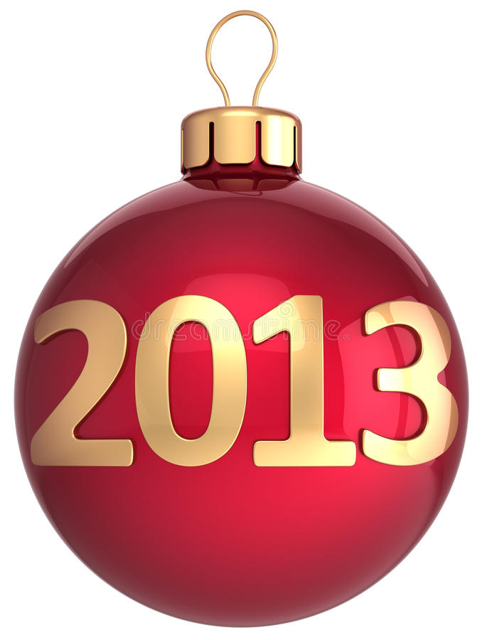 Download Christmas Ball 2013 New Year Bauble Stock Illustration - Illustration of adornment, january: 27553214