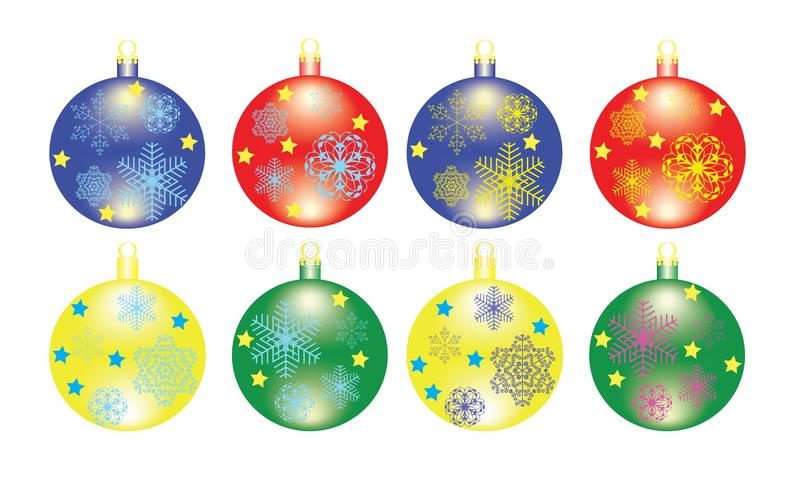 Download Christmas ball stock illustration. Illustration of snowflake - 22465147