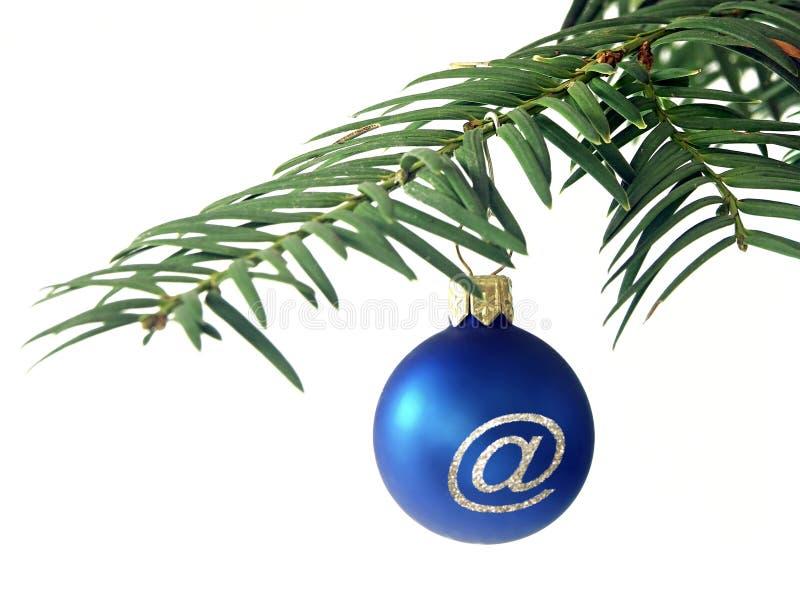 Christmas ball. With @ symbol royalty free stock image