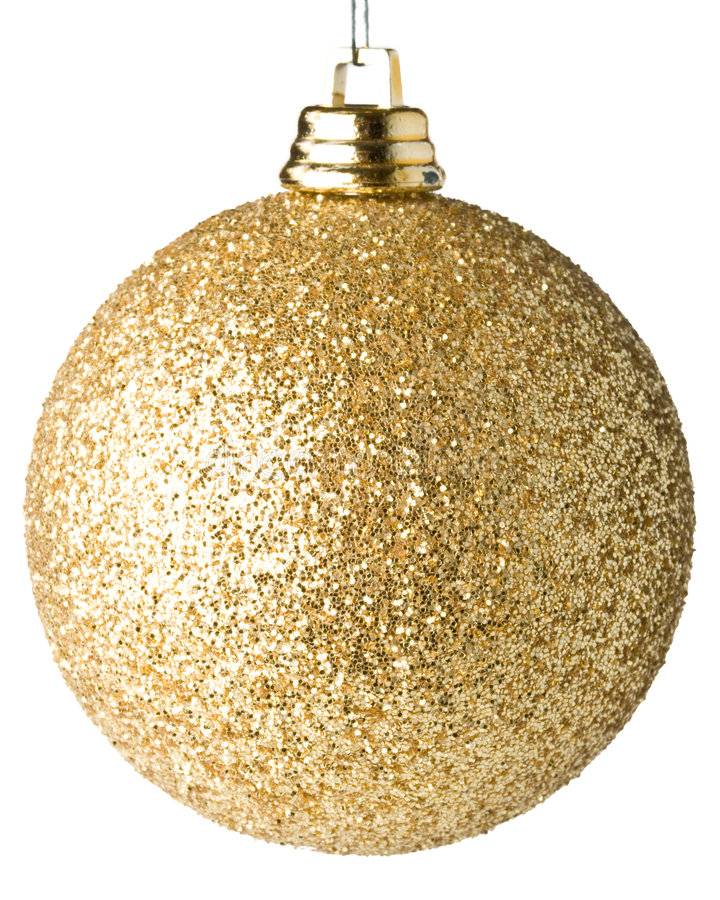 Christmas ball. On a white background royalty free stock photo
