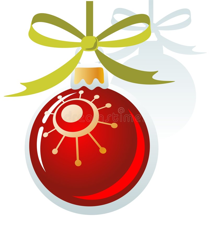 Download Christmas ball stock vector. Image of stylized, xmas, green - 7167626