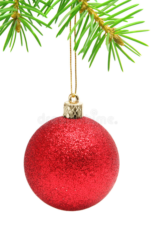 Download Christmas ball stock photo. Image of decor, bough, hanging - 7225628