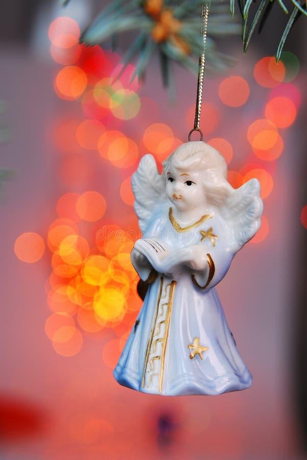 Christmas ball - angel royalty free stock photo