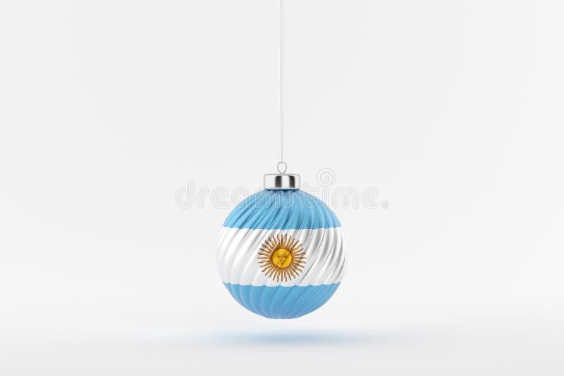 CHRISTMAS_BALL_ARGENTINA_01 royaltyfri illustrationer