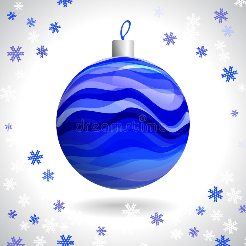 Download Christmas Ball stock vector. Illustration of round, blue - 33983860