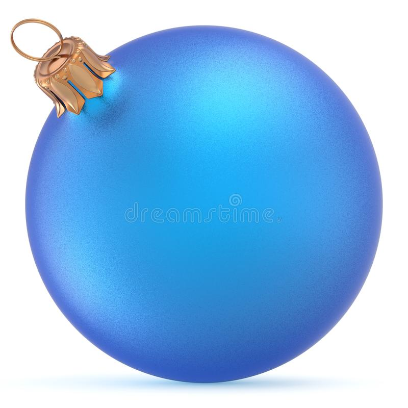 Free Christmas Ball Blue Wintertime Ornament New Year`s Eve Bauble Stock Photo - 101925650