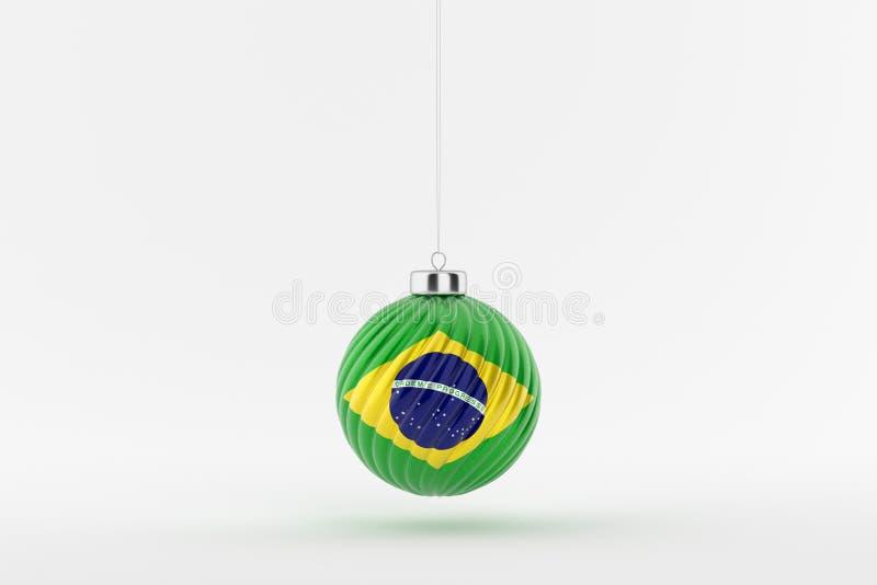 CHRISTMAS_BALL_BRAZIL_01 stockbilder