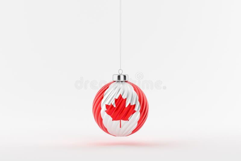 CHRISTMAS_BALL_CANADA_01 stockbilder