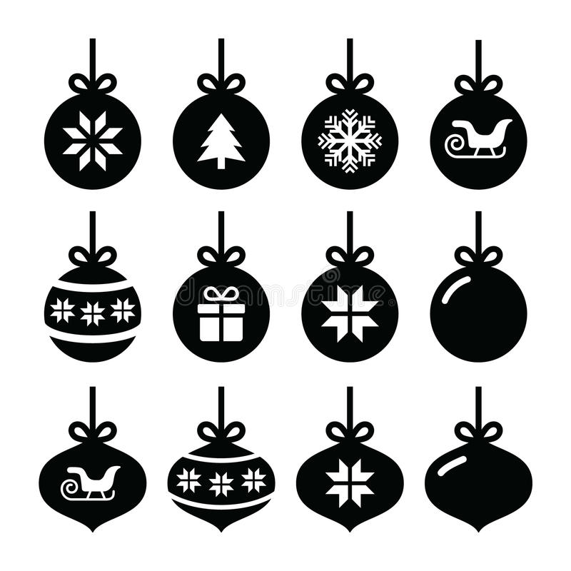 Download Christmas Ball, Christmas Bauble  Icons Set Stock Illustration - Image: 35170513