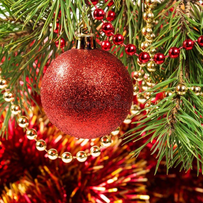Download Christmas Ball On A Christmas Tree Stock Photo - Image: 27413708