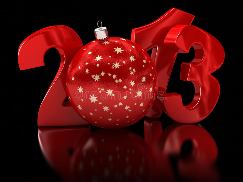 Download Christmas Ball 2013  (clipping Path Included) Stock Illustration - Illustration of text, polished: 33721394