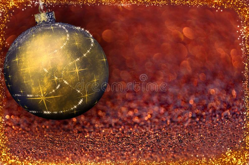 Christmas ball on the color background royalty free stock image