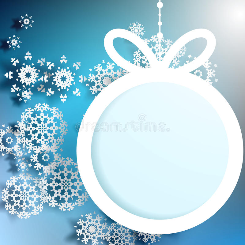 Download Christmas Ball Cutted From Paper. EPS 10 Stock Vector - Image: 31928672