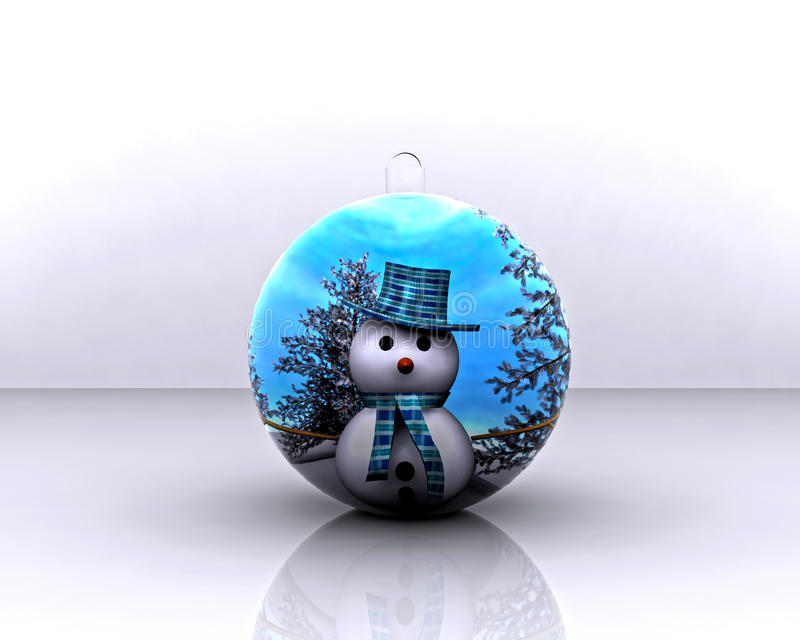 Christmas Ball Decorated - 3D Stock Image