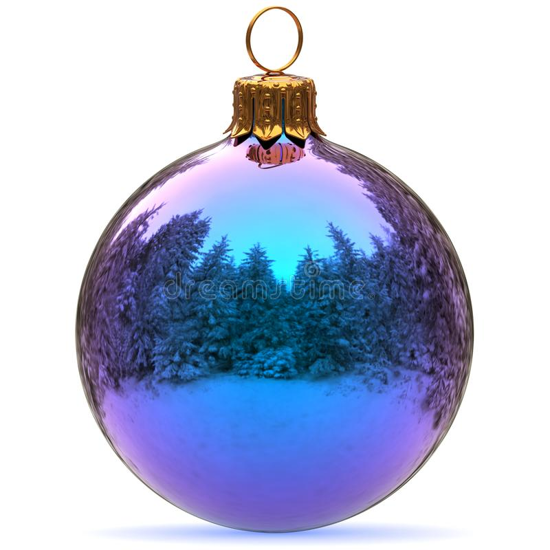 Christmas Ball Decoration Blue Bauble New Year`s Eve ...
