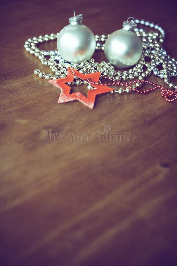 Christmas ball decoration. Christmasy xmas style tree decoration royalty free stock images