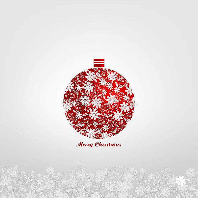 Download Christmas Ball With Floral Decorations Stock Illustration - Image: 28009509