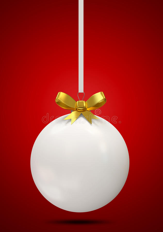 Download Christmas Ball With Golden Bow Stock Illustration - Image: 22810407