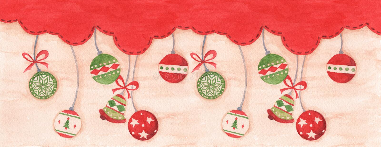 Christmas ball hanging on red sky winter season background for merry christmas and happy new year royalty free stock photos