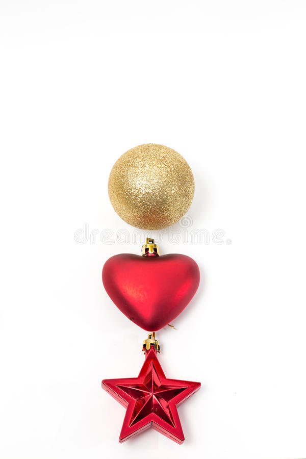 Free Christmas Ball, Heart And Star Royalty Free Stock Photography - 45988967