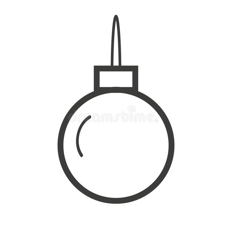 Christmas ball icon, flat design best vector icon stock photography