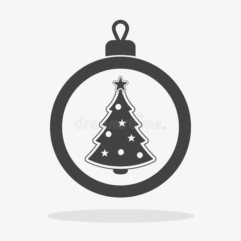 Christmas ball Icon flat vector stock image