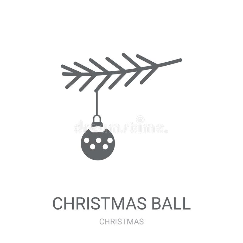 Christmas ball icon. Trendy Christmas ball logo concept on white. Background from Christmas collection. Suitable for use on web apps, mobile apps and print vector illustration