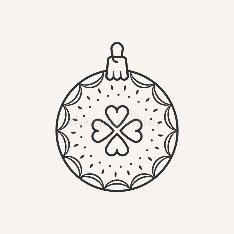 Christmas ball icon. royalty free stock photography