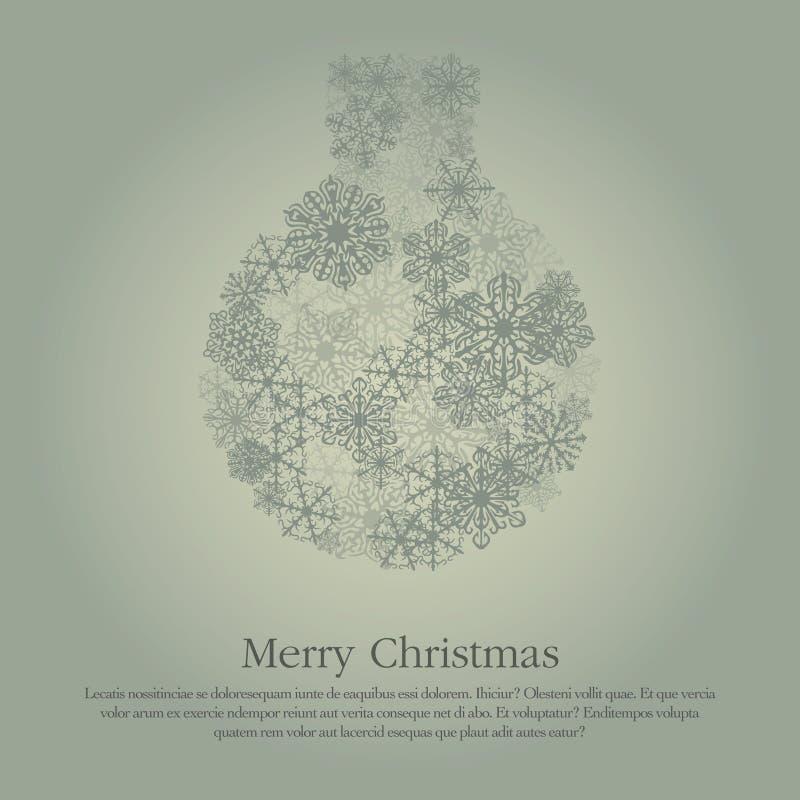 Christmas ball illustration snow flakes royalty free illustration