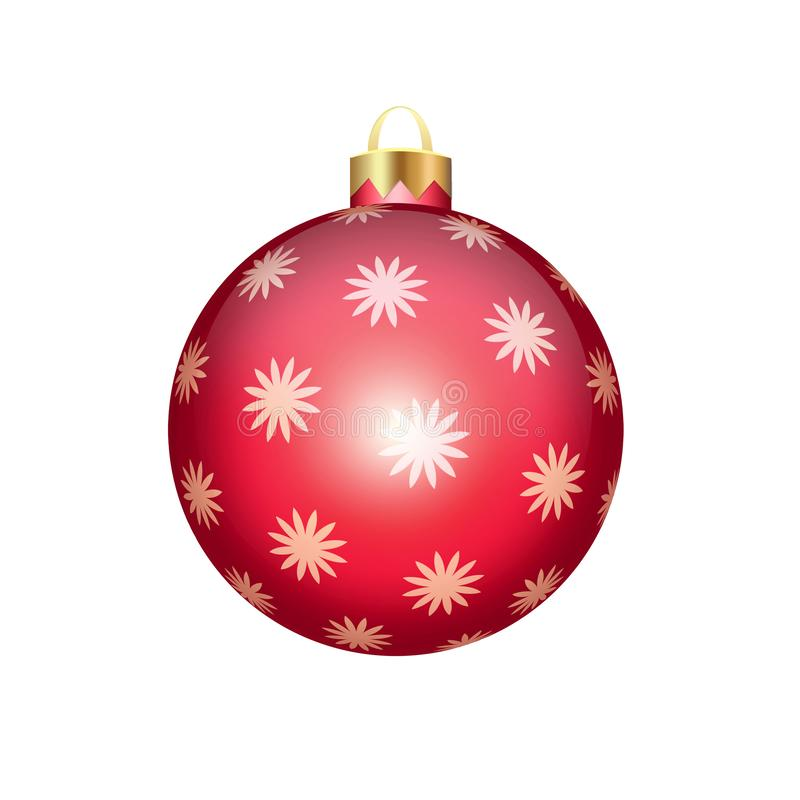 Christmas ball isolated on white. Background vector illustration