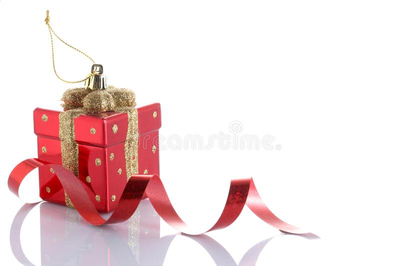 Christmas ball isolated on white background with copy space royalty free stock images