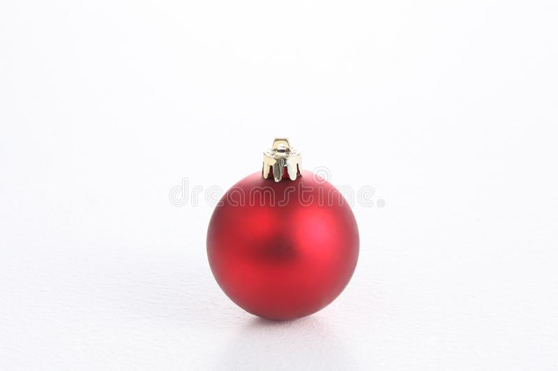 christmas ball isolated on white background with copy space stock photography