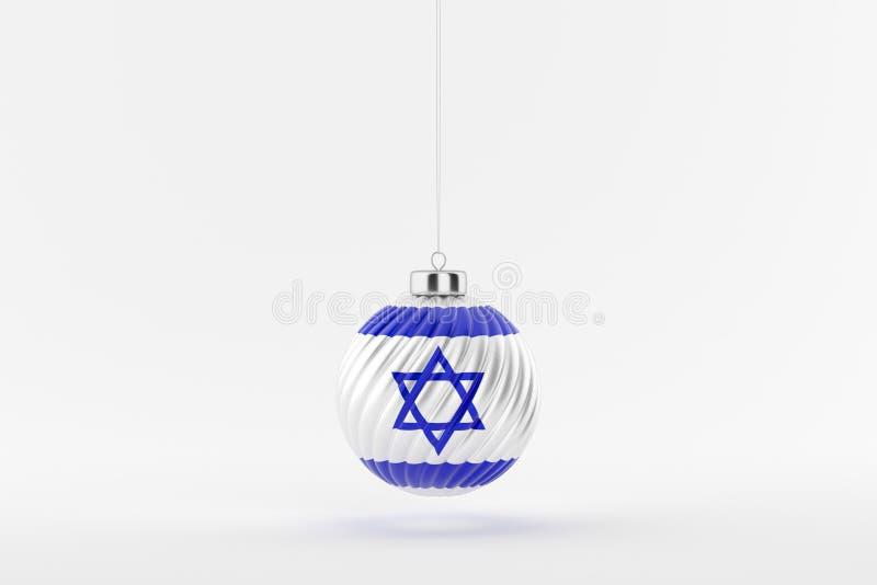 CHRISTMAS_BALL_ISRAEL_01 stock de ilustración
