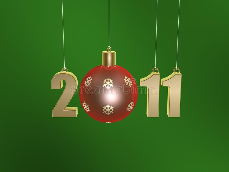 Christmas Ball Of New Year 2011 Royalty Free Stock Photo