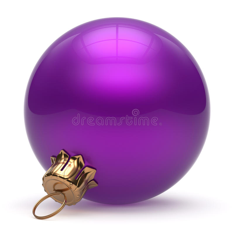 Free Christmas Ball New Year S Eve Bauble Decoration Purple Stock Image - 60574021