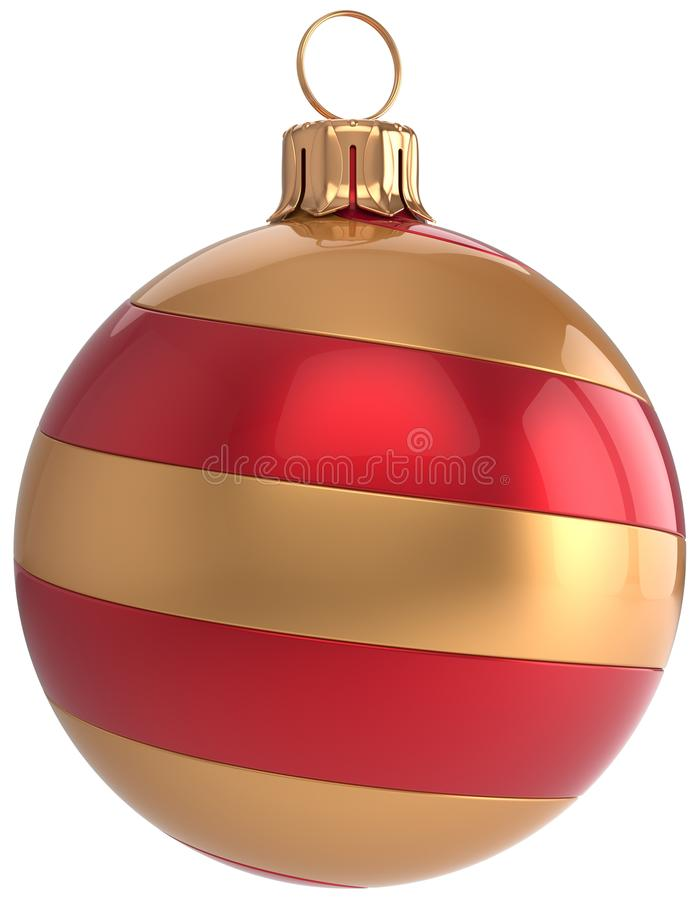 Christmas Ball New Year`s Eve Bauble Decoration Striped ...