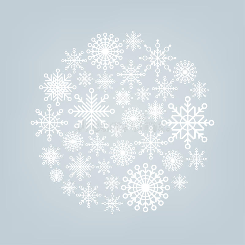 Free Christmas Ball Of Snowflakes On A Background Royalty Free Stock Photography - 34891107