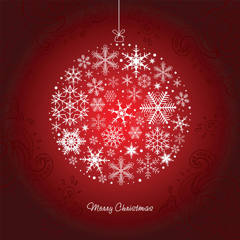 Free Christmas Ball Of The Snowflakes. Royalty Free Stock Image - 26466086