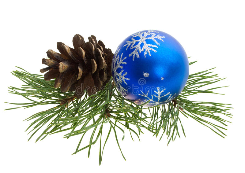 Download Christmas Ball And Pine Cone Stock Photo - Image of color, shiny: 16680826