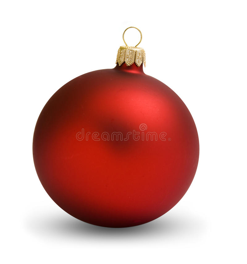 Christmas ball red royalty free stock photography