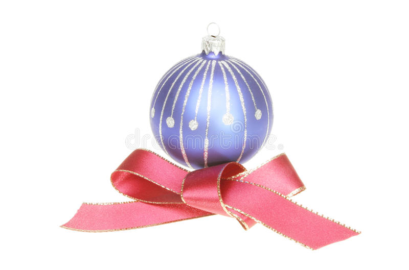 Download Christmas Ball And Red Ribbon Bow Stock Image - Image: 17184561